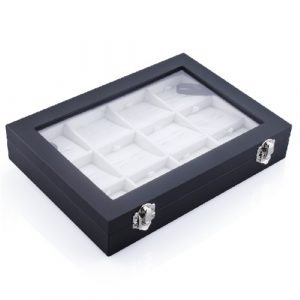 12 Pairs Capacity Navy Cufflink Box for Men