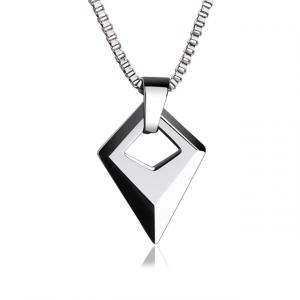 Abstract Diamond Geometric Pendant Necklace