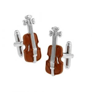 Brown Violin Cufflinks