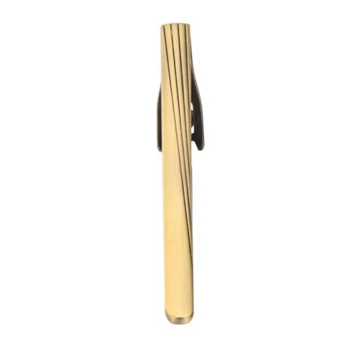 Classic Brushed Tie Clip - Top View