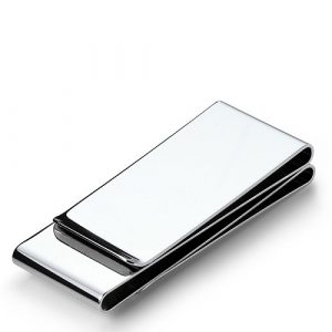 Elegant Plain Stainless Steel Money Clip