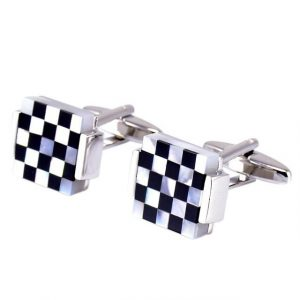 Lattice Square Cufflinks - LHS Front View