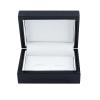 Luxury Wooden Cufflink Box - Black Front View