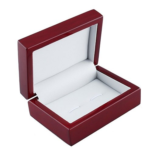 Mahogany Wooden Cufflink Box