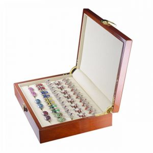 Polished Wooden Cufflink Box