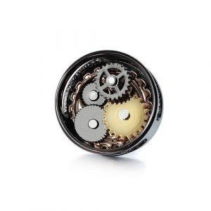 Round Gear Steampunk Lapel Pin