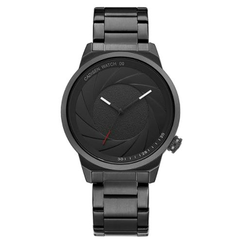 Camera Shutter Design Round Dial Stainless Steel Watch