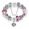 Crystal Royal Crown Charm Bracelet