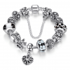Crystal Royal Crown Charm Bracelet - Black
