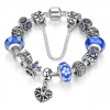 Crystal Royal Crown Charm Bracelet - Blue