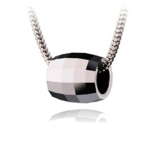 Geometric Design Tungsten Pendant Stainless Steel Necklace