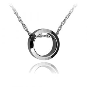 Ring Design Tungsten Pendant Stainless Steel Necklace