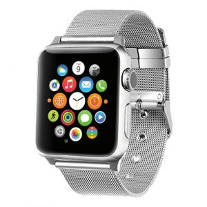 Silver Stainless Steel Milanese Loop Apple Watch Band