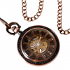 Steampunk Antique Open Face Pocket Watch - Top View