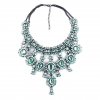 Crystal Water Drop Statement Necklace - Green