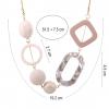 Geometric Shape Acrylic Statement Necklace - Dimension