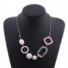 Geometric Shape Acrylic Statement Necklace - Display 3