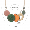 Geometric Shape Bamboo Statement Necklace - Dimension