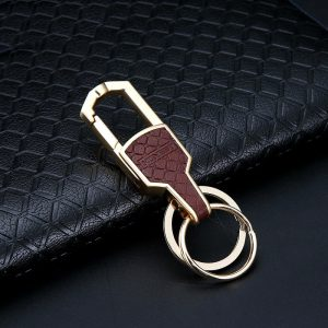 Luxury Design Double Ring Elegant Keychain