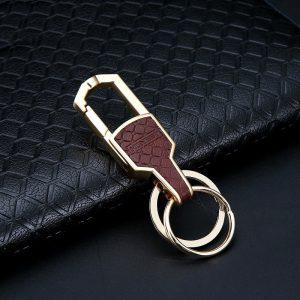 Luxury Design Double Ring Elegant Keychain