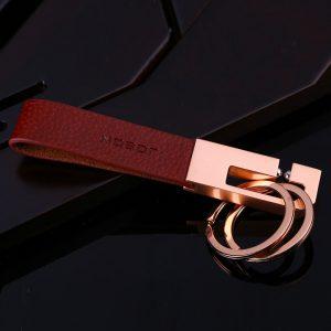 Minimalist Design Elegant Keychain - Rose Gold Plated