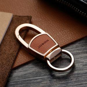 Minimalist Padlock Design Elegant Keychain