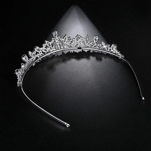 Princess Cubic Zirconia Bridal Headpieces - Display 2