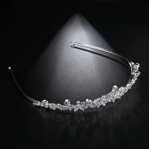 Princess Cubic Zirconia Bridal Headpieces - Display 3