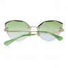 Green Polycarbonate Funky Rimless Cat Eye Sunglasses - Back View