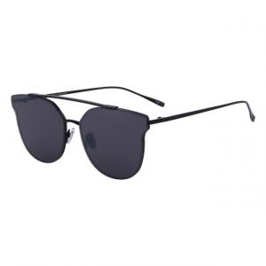 Polycarbonate Classic Cat Eye Sunglasses - Black