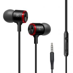 Street Style Wired In Ear Headphones - Black