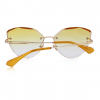 Yellow Polycarbonate Funky Rimless Cat Eye Sunglasses - Back View