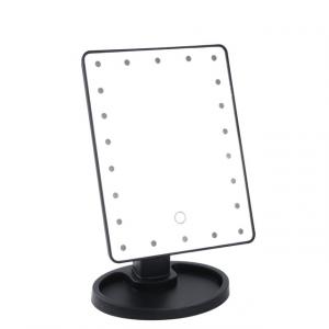 22 LED Lights Rectangular Makeup Mirror - Black