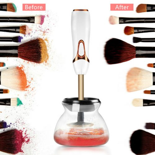 Electric Makeup Brush Cleaner Before & After