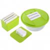 4 Interchangeable Stainless Steel Blades Fruit & Vegetable Mandoline Slicer Cutter