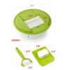 Stainless Steel Blades Fruit & Vegetable Mandoline Slicer Cutter - Dimension
