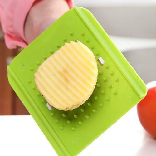 Stainless Steel Interchangeable Blades Fruit & Vegetable Mandoline Slicer Cutter - Potato Demo