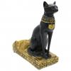 Resin Egyptian Cat Wine Bottle Holder - Left Angle Side