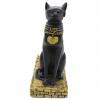 Resin Egyptian Cat Wine Bottle Holder - Front View