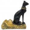 Resin Egyptian Cat Wine Bottle Holder - Full Side View