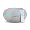 White Wood LED Light Essential Oil Diffuser with Remote