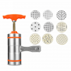 Stainless Steel Manual 9 Piece Mold Noodle & Pasta Maker - Orange