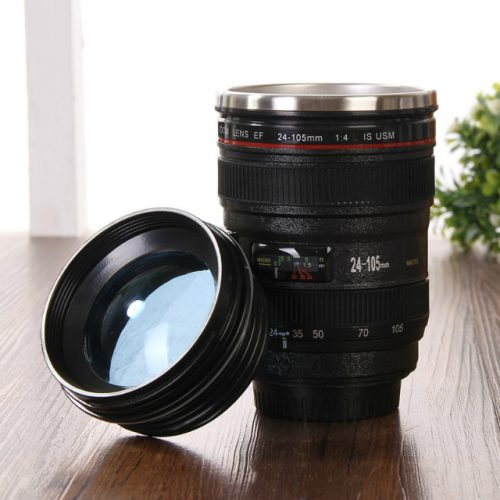 Camera Lens Novelty Coffee Mug - Display