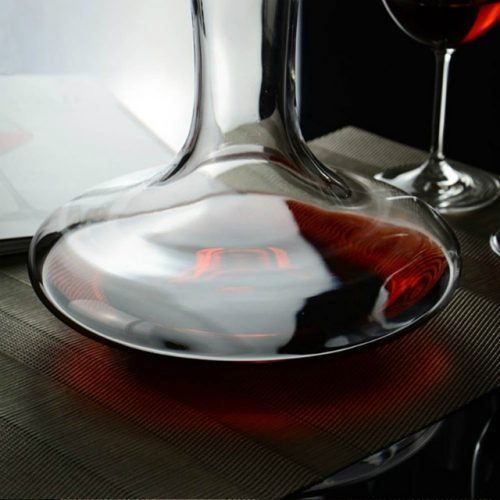 Crystal Glass Decanter - Bottom View