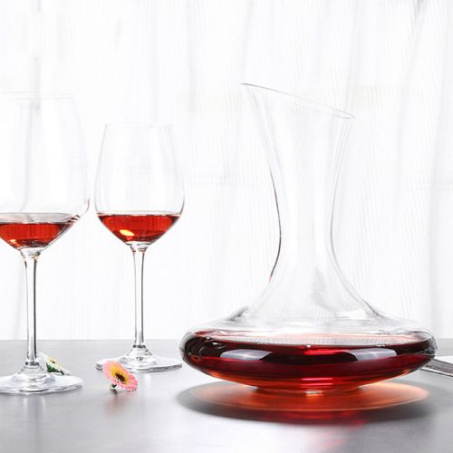 Crystal Glass Decanter and Wine Glasses