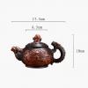 Dragon Art Classical Handmade Purple Clay Teapot