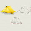 Ultralight 2 Person Camping Tent - Dimension