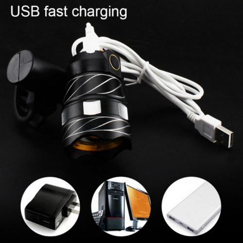 IP65 Front Bicycle LED Headlight - USB Fast Charging