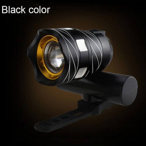 USB Rechargeable IP65 Black Front Bicycle LED Headlight