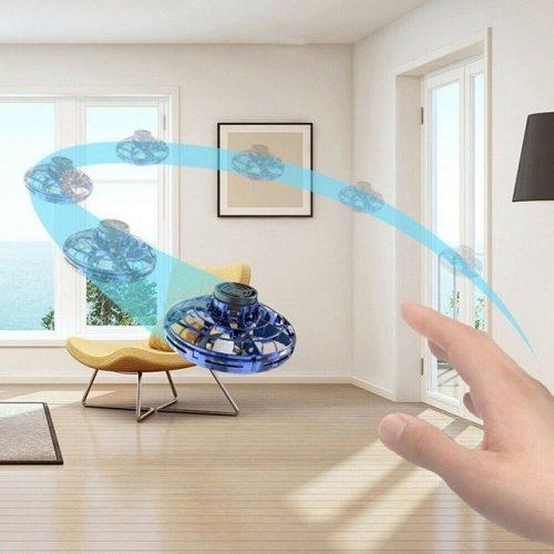 LED Light Up Flying Boomerang Fidget Spinner - Display 1